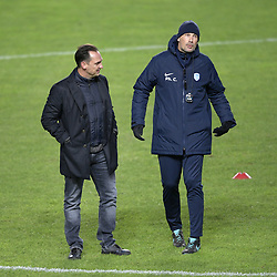 November 28, 2018 - Malmo, SWEDEN - Genk's technical director Dimitri De Conde and Genk's head coach Philippe Clement pictured during the training session of Belgian soccer team KRC Genk in Malmo, Sweden, Wednesday 28 November 2018. Genk will meet Swedish club Malmo on the fifth day of the UEFA Europa League group stage, in group I. BELGA PHOTO YORICK JANSENS (Credit Image: © Yorick Jansens/Belga via ZUMA Press)