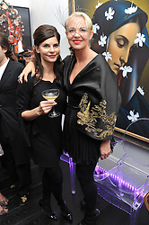 Left to right, JUSTINE GLENTON and AMANDA ELIASCH at the after party for the press night of 'As I Like It' held at the home of Amanda Eliasch, 24 Cheyne Walk, London on 5th July 2011.