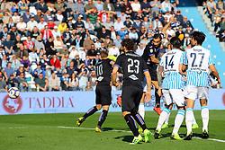 """Foto LaPresse/Filippo Rubin<br /> 03/03/2019 Ferrara (Italia)<br /> Sport Calcio<br /> Spal - Sampdoria - Campionato di calcio Serie A 2018/2019 - Stadio """"Paolo Mazza""""<br /> Nella foto: SECONDO GOAL FABIO QUAGLIARELLA (SAMPDORIA)<br /> <br /> Photo LaPresse/Filippo Rubin<br /> March 03, 2019 Ferrara (Italy)<br /> Sport Soccer<br /> Spal vs Sampdoria - Italian Football Championship League A 2018/2019 - """"Paolo Mazza"""" Stadium <br /> In the pic: SECOND GOAL FABIO QUAGLIARELLA (SAMPDORIA)"""