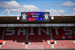 SOUTHAMPTON, ENGLAND - Thursday, April 5, 2018: Southampton welcome Wales during a training session at St. Mary's Stadium ahead of the FIFA Women's World Cup 2019 Qualifying Round Group 1 match against England. (Pic by David Rawcliffe/Propaganda)