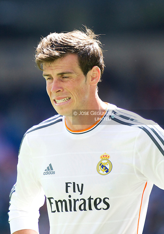 Gareth Bale in action during Real Madrid v Espanol, La Liga football match at Santiago Bernabeu on May 17, 2014 in Madrid, Spain