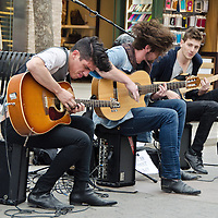 City of the Sun, a Indie/Flamenco/Rock guitar trio, perform at the Third Street Promenade on Thursday, January 23, 2013...