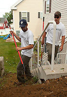 United Way Day of Caring throughout the region on Friday, September 9, 2011.  (Karen Bobotas/for the Laconia Daily Sun).