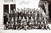 all male workers group portrait 1912 France