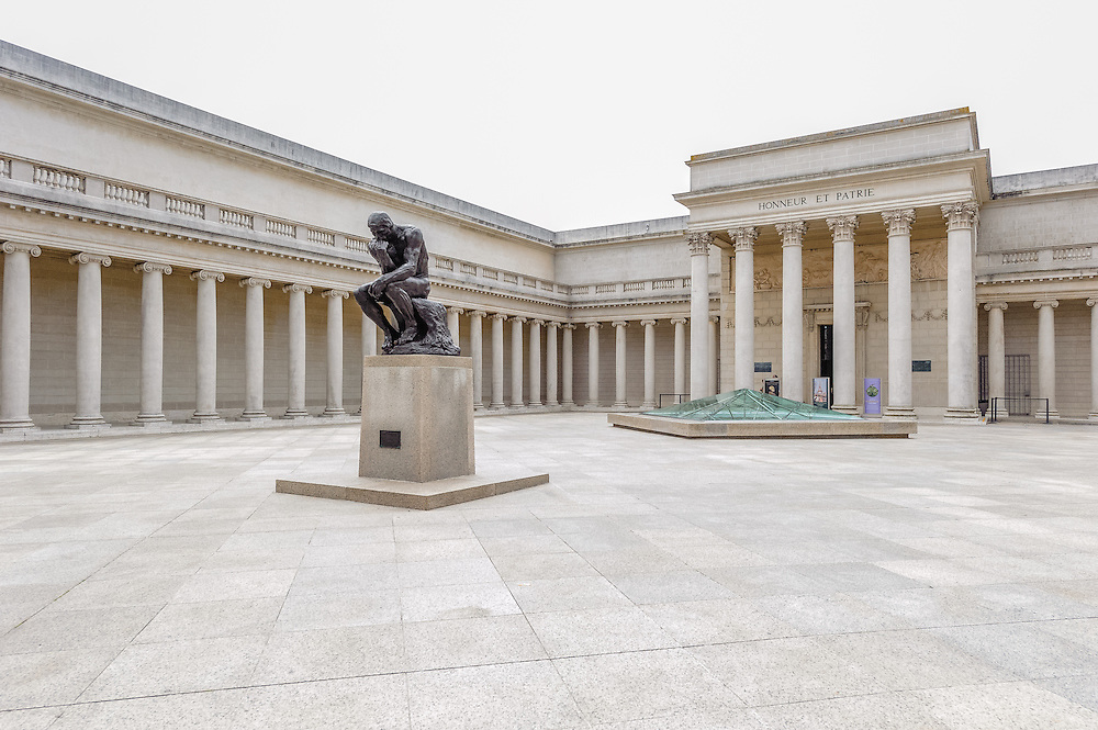 The Thinker Sculpture by Rodin,  California Palace of the Legion of Honor, fine arts museum, San Francisco, California, Lincoln Park