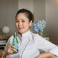 Chef Vicky Lau poses for a portrait during San Pellegrino Young Chef Media Roundtable Event on 20 May 2016 in Tate Dining Room, Hong Kong, China. Photo by Lucas Schifres / studioEAST