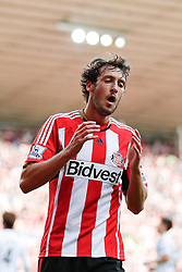 Will Buckley of Sunderland looks dejected after his shot is saved - Photo mandatory by-line: Rogan Thomson/JMP - 07966 386802 - 27/08/2014 - SPORT - FOOTBALL - Sunderland, England - Stadium of Light - Sunderland v Swansea City - Barclays Premier League.