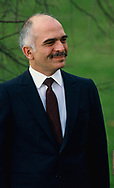King Hussein of Jordan at the White House on December 23, 1982<br />Photo by Dennis Brack