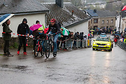 Kid riding at Saint-Roch, Houffailize during the 2019 Li&egrave;ge-Bastogne-Li&egrave;ge (1.UWT) with 256 km racing from Li&egrave;ge to Li&egrave;ge, Belgium. 28th April 2019. Picture: Pim Nijland | Peloton Photos<br /> <br /> All photos usage must carry mandatory copyright credit (Peloton Photos | Pim Nijland)