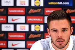 England goalkeeper Jack Butland (Stoke City) speaks to the media - Mandatory byline: Matt McNulty/JMP - 22/03/2016 - FOOTBALL - St George's Park - Burton Upon Trent, England - Germany v England - International Friendly - England Training and Press Conference