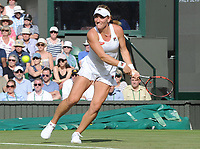 Tennis - 2017 Wimbledon Championships - Week One, Tuesday [Day Two]<br /> <br /> Women's Singles, First Round match<br /> Timea Babos (HUN) vs Caroline Wozniacki (DEN) <br /> <br /> Timea Babos  on Centre court <br /> <br /> COLORSPORT/ANDREW COWIE