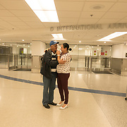 Pedro Ravelo of Cuba is greeted by his daughter Dannys Mary Ravelo after he arrived at Miami airport, Florida, U.S. February 23, 2018. Picture taken February 23, 2018.  REUTERS/Angel Valentin