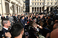 20190228 - Giuseppe Conte, esce da Palazzo Chigi per dichiarazioni alla stampa