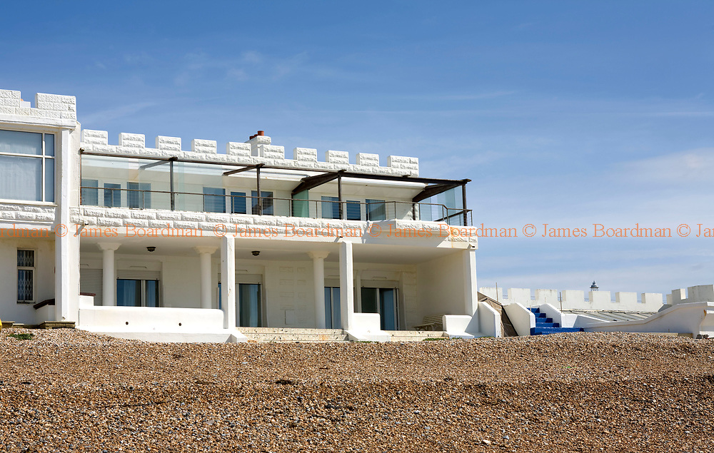 JAMES BOARDMAN / 07967642437<br /> Mrs Beryl Norris's  marine-side home in Hove, East Sussex. The 4 million pound property has a private beach, indoor swimming pool, Sauna, Jacuzz, 7 bedrooms, concealed bar and covered porch.