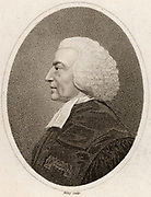 Hugh Blair (1718-1800) Scottish Presbyterian preacher and man-of-letters, Professor of Rhetoric at Edinburgh University. One of the group of lawyers, philosophers, scholars and churchmen who comprised the Scottish Enlightenment. Engraving from 'The European Magazine' (London, 1798).