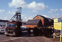 Police and pickets at Silverwood Colliery during the 1984-85 Miners Strike.
