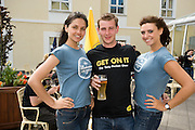Laura Redec with Stephen Costello from Knock  and Claudia Felstead at the Budweiser Ice Cold Summer BBQ, broadcast live on the Tony Fenton Show at The Galway Bay Hotel in Salthill. Photo:Andrew Downes.. .Both Duke Special and The Divine Comedy performed at the summer kick-off party and Today FM's Tony Fenton Show broadcast live from the hotel all afternoon...The 150 invited guests included Today FM listeners ad Budweiser Ice Cold Facebook fans from all over the country. Guests also won the chance to win a cool Grand in cash, meet Mr. Iceman and of course enjoy a pint of Budweiser Ice Cold, the coldest pint ever!..Enjoy Budweiser Ice Cold sensibly visit www.drinkaware.ie ..This event was strictly over 18's,..-ENDS-..FOR FURTHER INFORMATION PLEASE CONTACT:.Killian Burns / Aoiffe Madden..Killian.burns@ogilvy.com / aoiffe.madden@ogilvy.com.WHPR..Tel: 01 6690030.