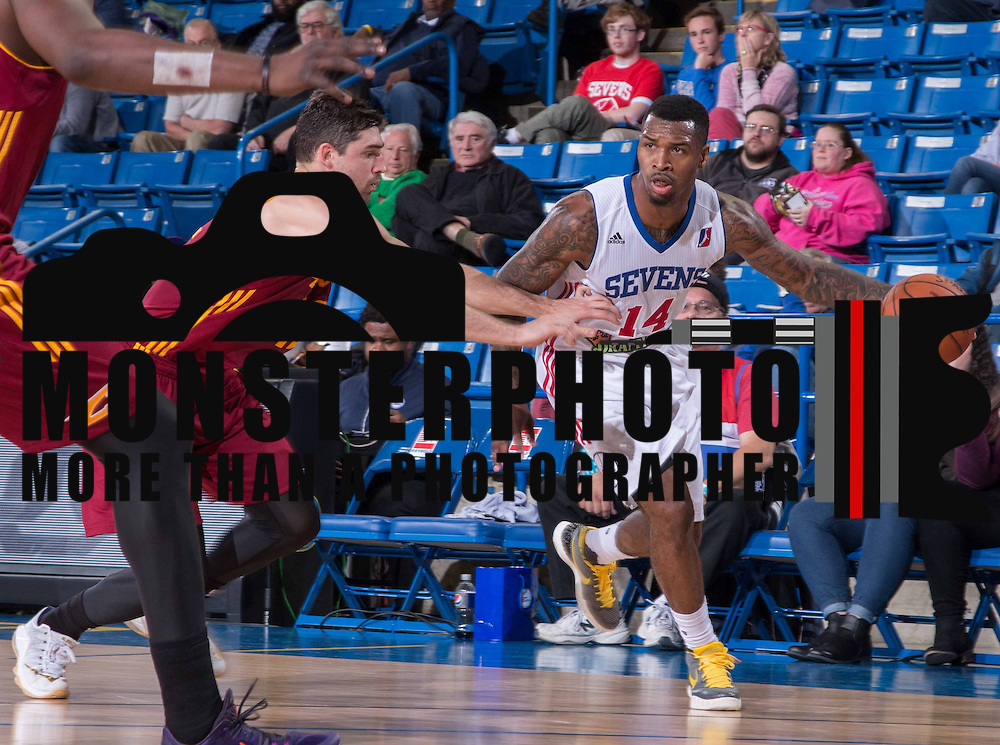 Delaware 87ers Guard SEAN KILPATRICK (14) drives towards the basket during the fourth period of a NBA D-league regular season basketball game between the Delaware 87ers (76ers) and the Canton Charge (Cleveland Cavaliers) Tuesday, Nov. 17, 2015, at The Bob Carpenter Sports Convocation Center in Newark, DEL