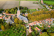 Nederland, Zeeland, Gemeente Borsele, 19-10-2014;  Zak van Zuid-Beveland, Nisse, beschermd dorpsgezicht.<br /> National Heritage village in Zealand, Southwest Netherlands.<br /> luchtfoto (toeslag op standard tarieven);<br /> aerial photo (additional fee required);<br /> copyright foto/photo Siebe Swart