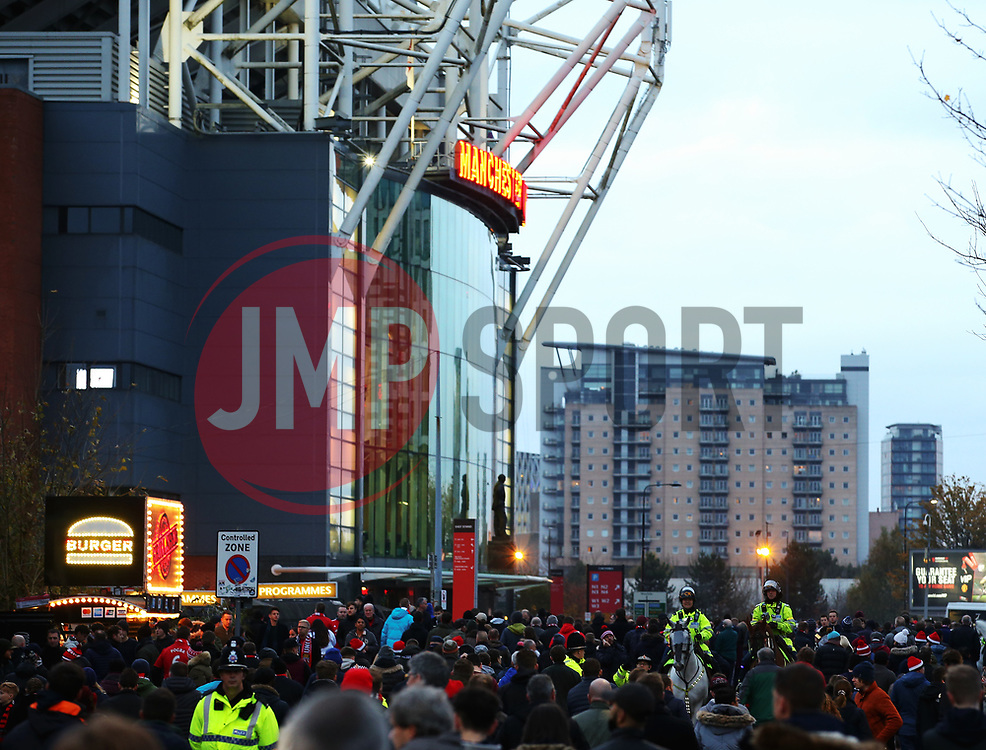 A general view as fans arrive at Old Trafford - Mandatory by-line: Matt McNulty/JMP - 18/11/2017 - FOOTBALL - Old Trafford - Manchester, England - Manchester United v Newcastle United - Premier League