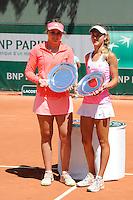 Anna KALINSKAYA / Paula BADOSA GIBERT  - 06.06.2015 - Jour 14 - Roland Garros 2015<br />Photo : Nolwenn Le Gouic / Icon Sport