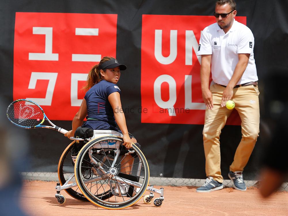 20170730 - Namur, Belgium : Yui Kamiji (JPN) returns the ball during her finale against Aniek Van Koot (NED) at the 30th Belgian Open Wheelchair tennis tournament on 30/07/2017 in Namur (TC Géronsart). © Frédéric de Laminne