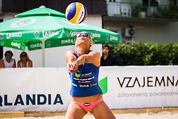 Erika Fabjan of Sberbank during Qlandia Beach Challenge 2015 and Beach Volleyball Slovenian National Championship 2015, on July 25, 2015 in Kranj, Slovenia. Photo by Ziga Zupan / Sportida