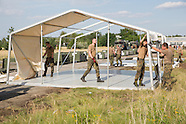 Bundeswehr construct refugee camp