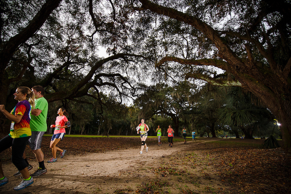 Images from the Lowcountry Trail 1/2 Marathon and 5k at Mullet Hall on Johns Island near Charleston, South Carolina.