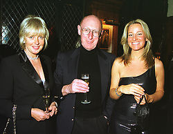 Left to right, MISS ELAINE MILLAR, SIR CLIVE SINCLAIR and MISS RUTH KENSIT, at a party in London on 14th April 1999.MRB 40