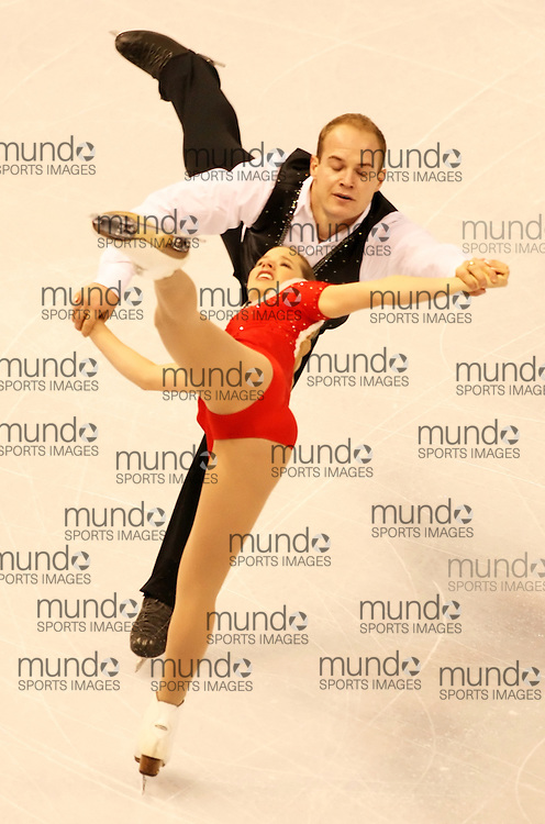 (Ottawa, ON---1 November 2008)  Mylene Brodeur and John Mattatall of Canada compete in the pairs free skating at the 2008 HomeSense Skate Canada International figure skating competition. They finished fourth. Photograph copyright Sean Burges/Mundo Sport Images (www.msievents.com).