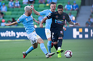 MELBOURNE, VICTORIA - JANUARY 06: Newcastle Jets forward Dimitri Petratos (7) competes for the ball at the Hyundai A-League Round 11 soccer match between Melbourne City FC and Newcastle Jets on at AAMI Park in NSW, Australia 06 January 2019. (Photo by Speed Media/Icon Sportswire)