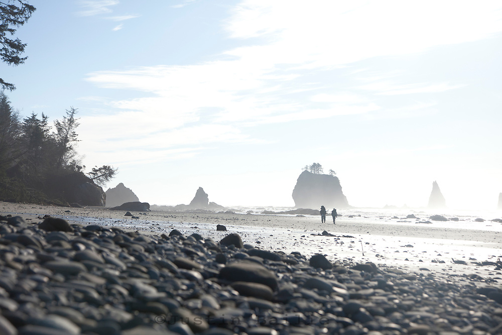 Backpacking near Third Beach in Olympic National Park, WA