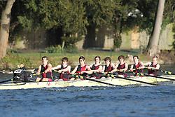 2012.02.25 Reading University Head 2012. The River Thames. Division 2. Bristol University Boat Club A Nov 8+
