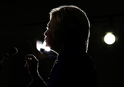 Democratic presidential nominee Hillary Clinton is silhouetted by stage lights as she delivers remarks at a rally Wednesday, September 21, 2016 in Orlando, FL, USA. Photo by Joe Burbank/Orlando Sentinel/TNS/ABACAPRESS.COM