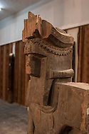 Afghanistan. museum of KABUL.  wood statue totem from Kafiristan XIX th century, destroyed by the talibans  because they represent idols.