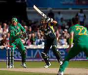 Shahid Afridi bats during the ICC World Twenty20 Cup semi-final between South Africa and Pakistan at Trent Bridge. Photo © Graham Morris (Tel: +44(0)20 8969 4192 Email: sales@cricketpix.com)