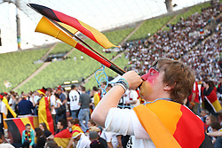23.06.2010, Olympiapark, Muenchen, GER, FIFA Worldcup, Puplic Viewing Ghana vs Deutschland  im Bild fan mit wuwusela, EXPA Pictures © 2010, PhotoCredit: EXPA/ nph/  Straubmeier / SPORTIDA PHOTO AGENCY
