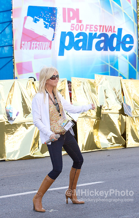 Singer and Dancing with the Stars professional Julianne Hough seen at the Indy 500 Festival Parade on May 25, 2008. Photo by Michael Hickey