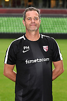 Philippe Hinschberger coach of Metz during photoshooting of Fc Metz for season 2017/2018 on August 2nd 2017 in Metz<br /> Photo : Fred Marvaux / Icon Sport