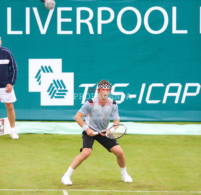 Liverpool, England - Friday, June 15, 2007: Pat Cash in action on day four of the Liverpool International Tennis Tournament at Calderstones Park. For more information visit www.liverpooltennis.co.uk. (Pic by David Rawcliffe/Propaganda)