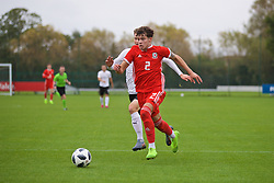 NEWPORT, WALES - Monday, October 14, 2019: Wales' Neco Williams during an Under-19's International Friendly match between Wales and Austria at Dragon Park. (Pic by David Rawcliffe/Propaganda)