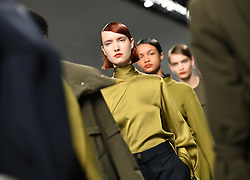 Models on the catwalk during the Eudon Choi Autumn/Winter 2017 London Fashion Week show at the BFC Show Space, 180 Strand, London. Photo credit should read: Doug Peters/ EMPICS Entertainment