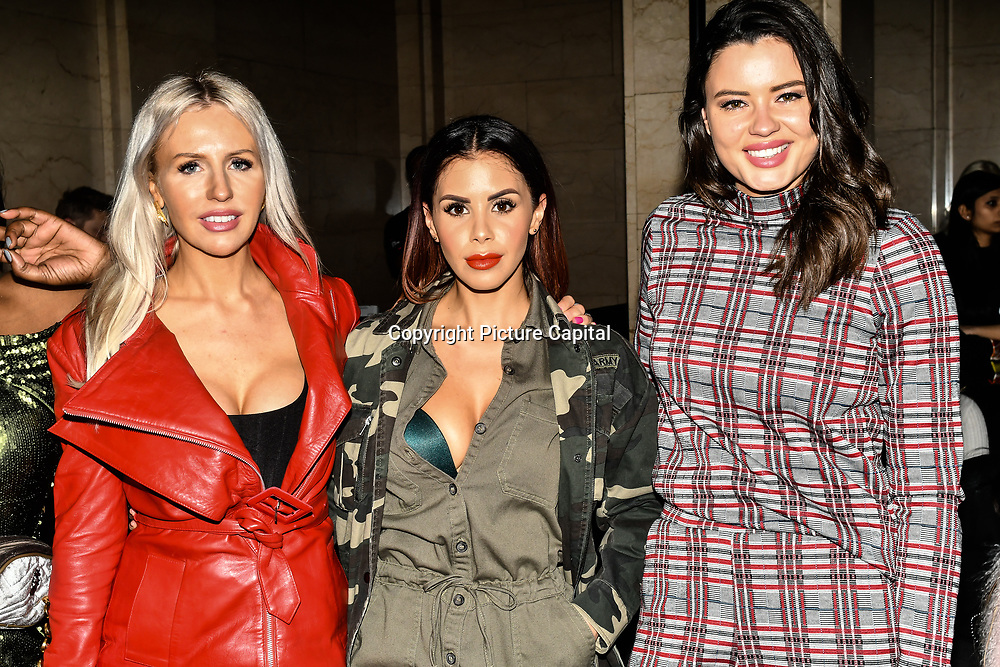 Naomi Isted and Shanie Ryan attend Fashion Scout LFW AW19 Day 1 at Freemasons' Hall, London, UK. 15 Feb 2019