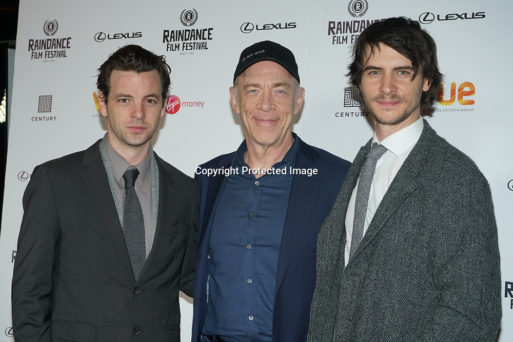 London, England, UK. 21th September 2017. Harry Llody,J. K. Simmons and Gethin Anthony attend Raindance Film Premiere of 'I'm Not Here', starring J.K. Simmons