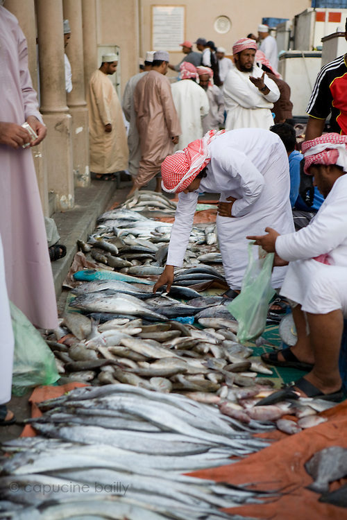 Nizwa, Sultanate of Oman. .February 1st 2009..The fish market of Nizwa.