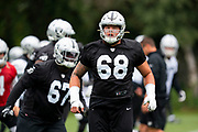 Andre James (OL) of the Oakland Raiders during the practice session for Oakland Raiders at the Grove Hotel, Chandlers Cross, United Kingdom on 4 October 2019.