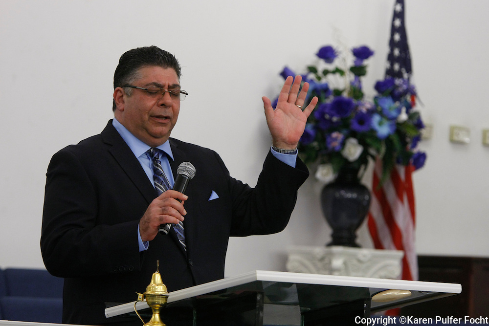Alonso Esposito, a former Boston mobster-turned pastor,  at Faith Keepers Ministry in Memphis on Sunday, June 26th, 2016.