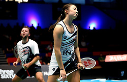 Emily Westwood of Bristol Jets and Ben Lane of Bristol Jets looks frustrated - Photo mandatory by-line: Robbie Stephenson/JMP - 07/11/2016 - BADMINTON - University of Derby - Derby, England - Team Derby v Bristol Jets - AJ Bell National Badminton League