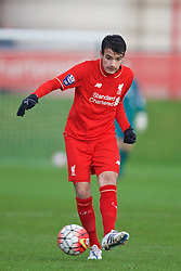 KIRKBY, ENGLAND - Tuesday, January 5, 2016: Liverpool's Pedro Chirivella during the Under-21 Friendly match against Morecambe at the Kirkby Academy. (Pic by David Rawcliffe/Propaganda)